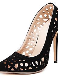 Da donna-Tacchi-Formale Casual Serata e festa-Comoda Club Shoes Light Up Shoes-A stiletto-Scamosciato-Nero