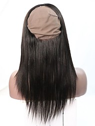 8A Grade Brazilian Virgin Human Hair 360 Full Lace Band Frontal 22*4*2 With Spandex Cap Instock
