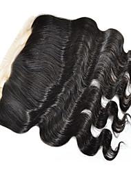 4x13 Fermeture Ondulation naturelle Cheveux Rémy Fermeture Dentelle Suisse 45-120 gramme Cap Taille