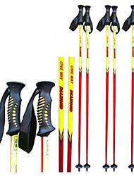 spéciaux carbone oneway bâton de ski ski fournitures bâton de ski / jaune et rouge sport