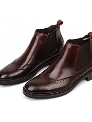 Для мужчин Туфли на шнуровке Удобная обувь Кожа Повседневные Удобная обувь Черный Кофейный Менее 2,5 см
