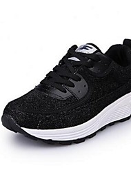Women's Athletic Shoes Comfort Fabric Athletic Black Silver