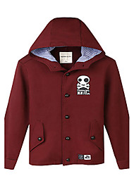 Trenduality® Men's Round Neck Long Sleeve Hoodie & Sweatshirt Burgundy - 47075