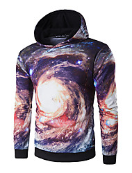 Men's Casual/Daily Sports Active Simple Hoodie Print Micro-elastic Polyester Long Sleeve Fall Winter