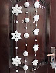1pc Schaum Schneeflocke Weihnachten liefert Anhänger Einkaufszentrum Fensterdekoration (Stil random)