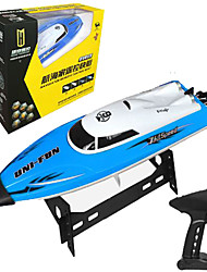 Speedboat Huanqi 960 1:12 Racing RC Boat Brushless Electric 4 2.4G 50km/h Blue