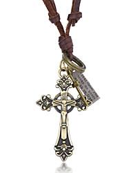 Men's Women's Pendant Necklaces Necklace Alloy Cross Unique Design Silver Jewelry Casual 1pc