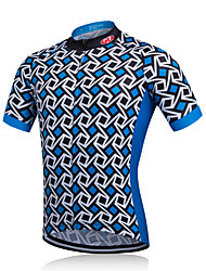 fastcute Cycling Jacket Men's Short Sleeve BikeBreathable Quick Dry Moisture Permeability Reduces Chafing Sweat-wicking Soft smooth