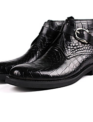 Men's Boots Fall Winter Other Leather Office & Career Black Mahogany