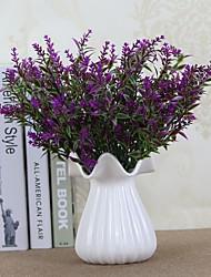 6 Une succursale Plastique Lavande Fleur de Table Fleurs artificielles 34cm
