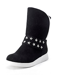 Women's Low-Heels Frosted Low-top Solid Pull-on Boots