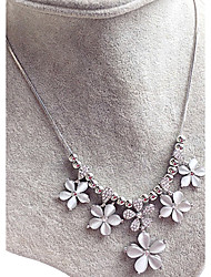 Necklace Opal Collar Necklaces Jewelry Wedding / Party / Casual Flower Flower Style Opal Women 1pc Gift White