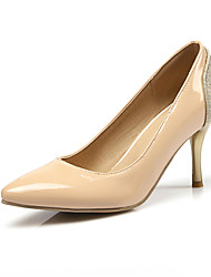Damen-High Heels-Büro / Lässig / Party & Festivität-Kunstleder-Stöckelabsatz-Passende Schuhe & Taschen-Schwarz / Rot / Mandelfarben