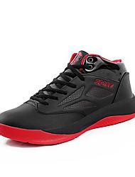 Masculino-Tênis-ConfortoPreto Vermelho Azul Real-Microfibra-Para Esporte