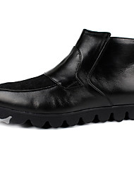 Men's Boots Comfort Cowhide Casual Black