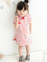 Girl's Casual/Daily / Sports Polka Dot Dress,Cotton Winter / Fall Short Sleeve