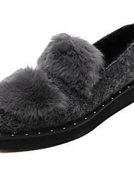 Damen-Loafers & Slip-Ons-Outddor-KunstlederOthers-Schwarz / Grau