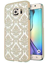 para o caso borda da tampa do damasco teste padrão de flor do vintage pc transparente caso duro Samsung Galaxy S7