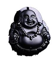 Ожерелье Ожерелья с подвесками Бижутерия Повседневные Религиозный Янтарь Мужчины 1шт Подарок Черный