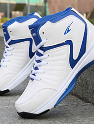 Sapatos Basquete Masculino Preto / Azul / Vermelho Courino
