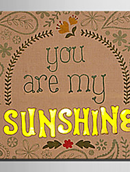 E-HOME® Stretched LED Canvas Print Art You Are My Sunshine LED Flashing Optical Fiber Print One Pcs