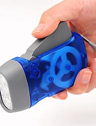 LED-Handpressen-Taschenlampe Mini-Lampe Umweltschutz Taschenlampe (zufällige Farbe)