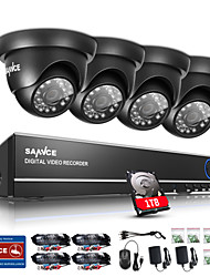 SANNCE 720P Outdoor IR Home Security Camera 1080N 4CH HD DVR CCTV System Built-in 1TB HDD