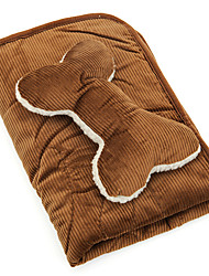 Dog Bed Pet Blankets Foldable Brown Corduroy