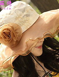 Summer Women  Korean Folding Big Anti - UV Sun Hat Straw Hat