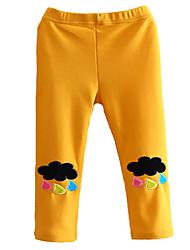 Girls Fashion Han Edition  Thicken  Pure Color Cotton Leggings Cartoon Design