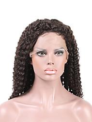 meilleure perruque avant de dentelle de qualité 8-26inch 130% densité brazilian vierge perruque de cheveux bouclés perruques de cheveux