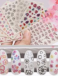 9pcs Nail Sticker Art Autocollants 3D pour ongles Maquillage cosmétique Nail Art Design