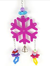 Random Colors Portable Metal Acrylic Bird Toys 1pc