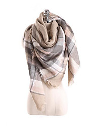 Women Faux Fur Scarf,Casual Rectangle / SquareColor Block