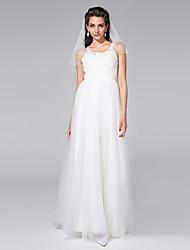 Lanting Bride® Trapèze Robe de Mariage  - Chic & Moderne / Elégant & Luxueux Tout Simplement Superbe Longueur Sol Décolleté Tulle avec