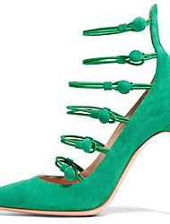 Feminino-Saltos-Conforto Inovador Sapatos clube-Salto Agulha-Preto Verde-Camurça Pele-Social Casual Festas & Noite