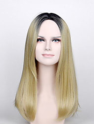 Fashion Wig President of the Daughter Wig Light Gold Synthetic Wig with High Temperature Wire