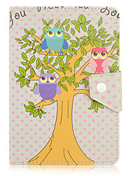 For Shockproof / with Stand / Auto Sleep/Wake / Magnetic / Pattern Case Full Body Case Cute Owl PU Leather iPad Air / iPad Air 2