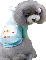 Hunde Pullover Gelb / Grün / Blau / Rosa Hundekleidung Winter / Frühling/Herbst Tier Niedlich / Lässig/Alltäglich / warm halten