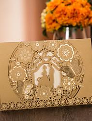 Personnalisé Pliée Invitations de mariage Cartes d'invitation-50 Pièce/Set Papier nacre