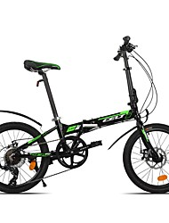 Folding Bike Cycling 7 Speed 20 Inch Double Disc Brake Ordinary Aluminium Alloy Frame Removable Folding Folding Aluminium
