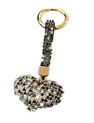 Key Chain Leisure Hobby Key Chain / Diamond / Gleam Rabbit / Heart-Shaped Metal Black For Boys / For Girls