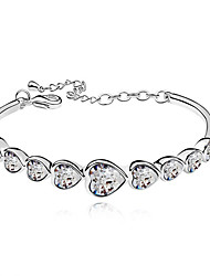Women's Bangles Crystal Alloy Fashion White Jewelry 1pc