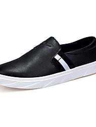 Herren-Loafers & Slip-Ons-Lässig-PUKomfort-Weiß Schwarz Rot