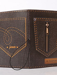 Travel Passport Holder & ID Holder Waterproof / Dust Proof / Portable Travel Storage PVC Zipper Jeans