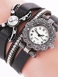 Женские Нарядные часы Модные часы Наручные часы Часы-браслет Панк Цветной Кварцевый PU ГруппаВинтаж Блестящие Конфеты Бабочка Богемные С