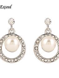 2016 Brand New Novel Fashion Circular Imitation Pearl Drop Earring For Ladies ER119801
