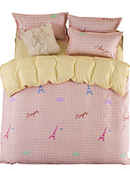 Mingjie Pink Bedding Sets 4PCS for Twin Full QueenSize from China Contian 1 Duvet Cover 1 Flatsheet 2 Pillowcases