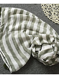 Women Cotton Scarf,Casual RectangleStriped