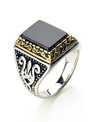 Ringe Hochzeit / Party Schmuck Aleación Herren Ring 1 Stück,Eine Größe Silber